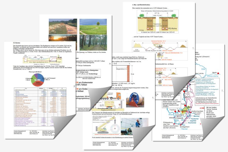 19 Seiten Argumentation für eine Streckenführung und für bestimmte Techniken beim Ausbau der Erdverkabelung. Kann man daraus eine Pressemitteilung machen?