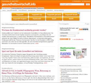 Online-Pressemitteilungen in der Gesundheitsbranche: gesundheitswirtschaft.info