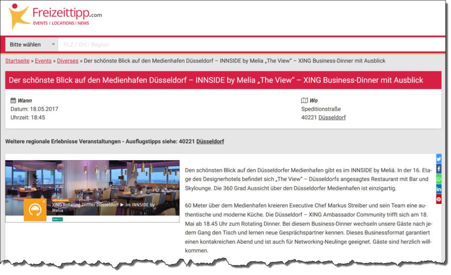 Das Eventportal Freizeittipp.com informiert über anstehende Veranstaltungen