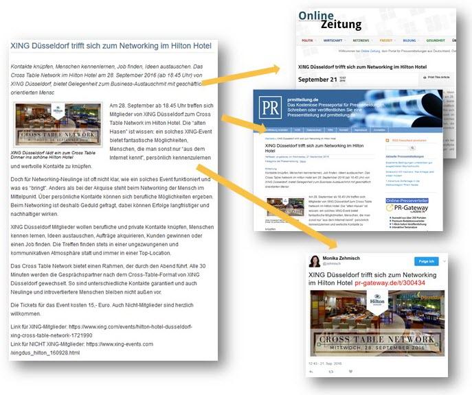 Veröffentlichung von Business-Events auf Online-Presseportalen