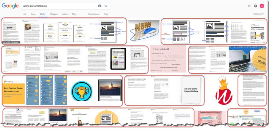 Mit auffälligen und aussagekräftigen Bildern stärken Sie Ihre Auffindbarkeit im Internet für Ihre Keywords. Das gilt für Pressemitteilungen, aber auch für Visualisierungen in Blogbeiträgen.