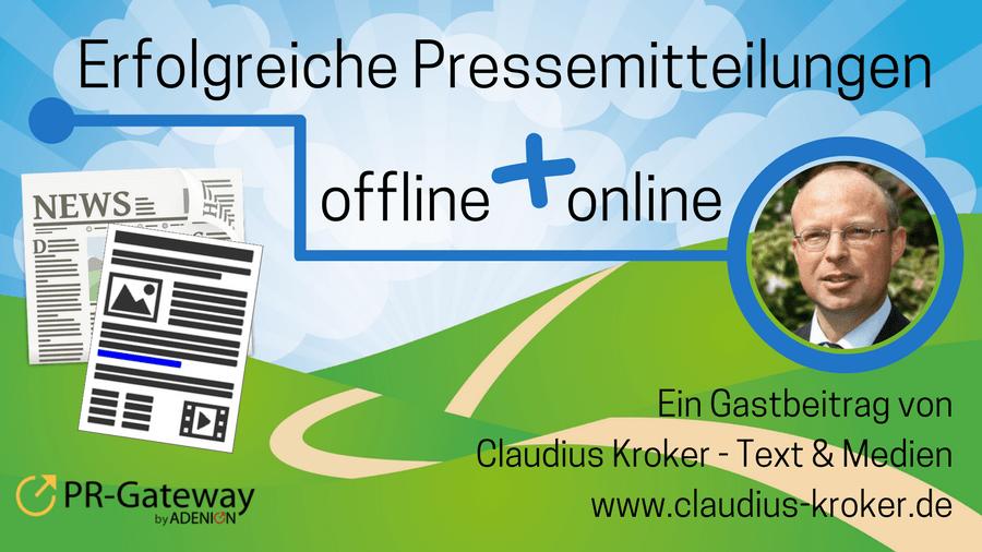 Erfolgreiche Pressemitteilungen offline und online