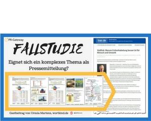 Fallstudie komplexe Themen als Pressemitteilung