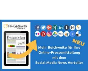 Mehr Reichweite für Ihre Online-Pressemitteilunge mit dem Social Media News Verteiler