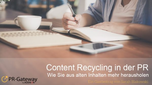 Content Recycling in der PR