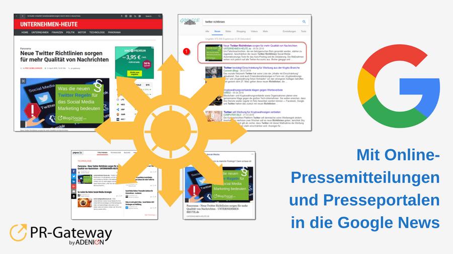 Fallstudie: Mit Online-Pressemitteilungen und Presseportalen in die Google News und Social Media