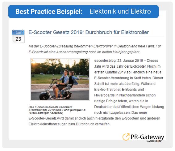 Best Practice Beispiel: Elektonik und Elektro
