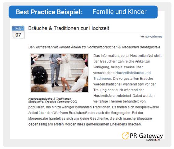 Best Practice Beispiel: Familie und Kinder