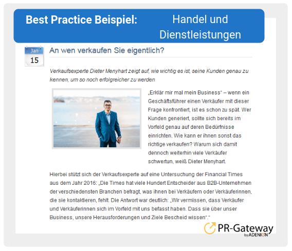 Best Practice Beispiel: Handel und Dienstleistungen