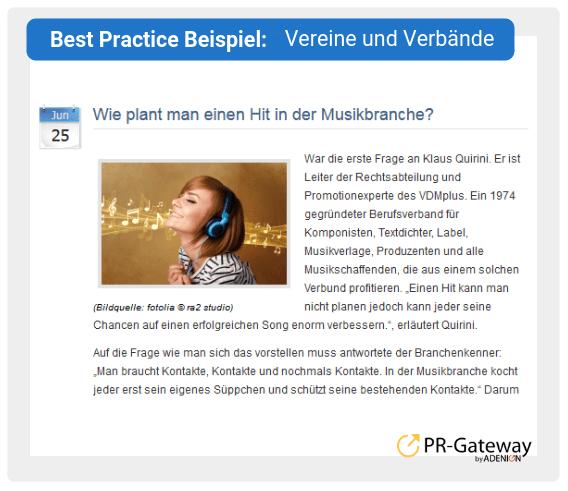 Best Practice Beispiel: Vereine und Verbände