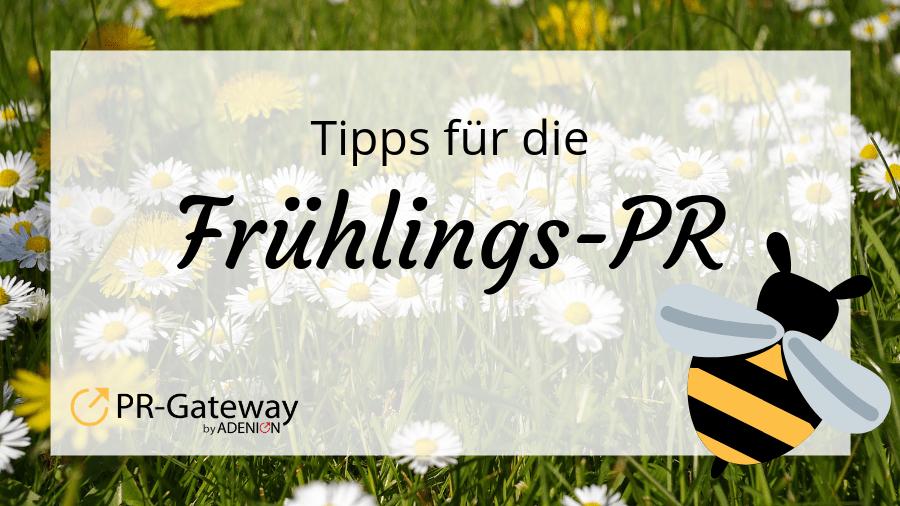 Saisonale PR: Frühling