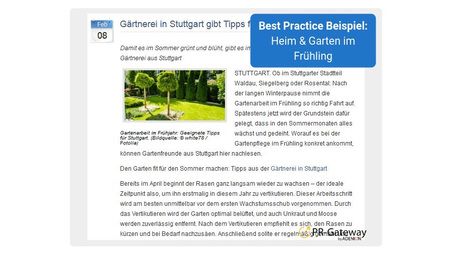 Frühjahrs-PR - Best Practice Beispiel 3: Gartenarbeit