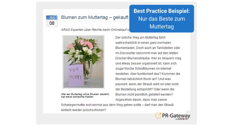 Frühjahrs-PR - Best Practice Beispiel 7: Muttertag