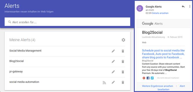 Google-Alerts einrichten