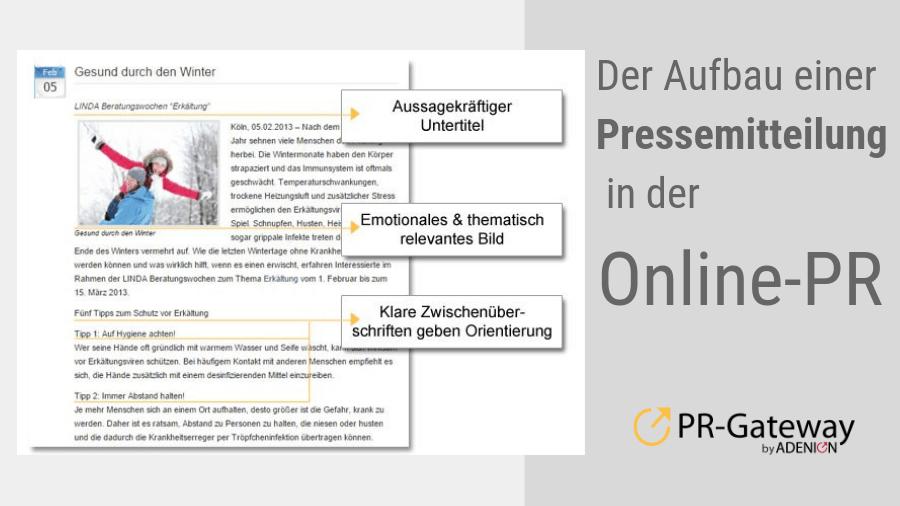 Online-PR - Der Aufbei einer Pressemitteiung
