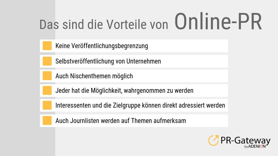 Das sind die Vorteile von Online-PR