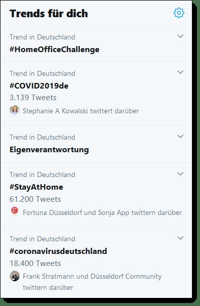 Krisenkommunikation Twitter Trends Corona