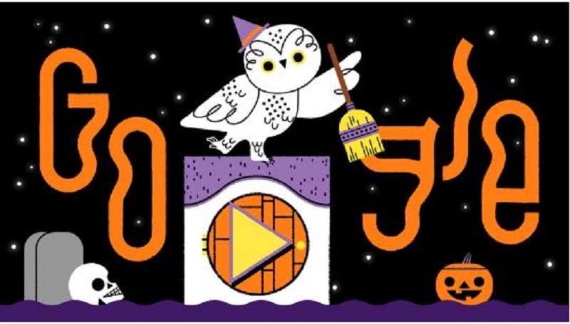 Google Doodle zu Halloween