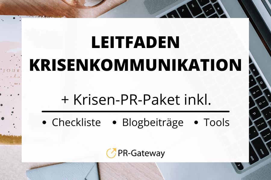 Leitfaden Krisenkommunikation + Krisen-PR-Paket