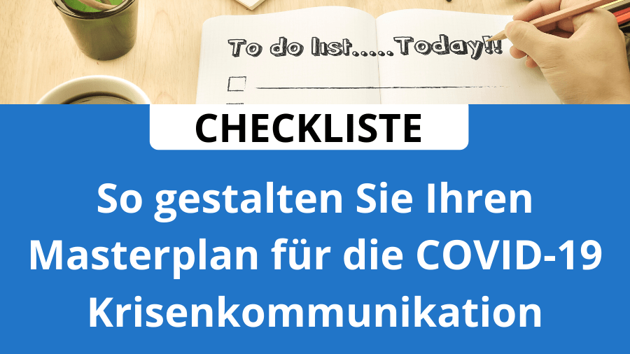Checkliste Krisenkommunikation
