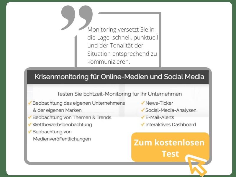 Krisenmonitoring für Online-Medien und Social Media