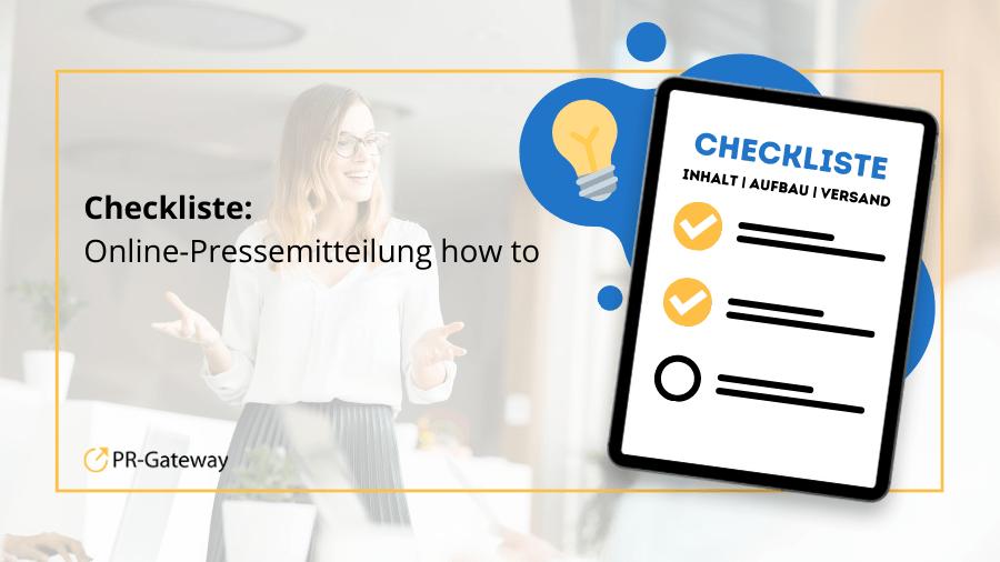 Checkliste für Online-Pressemitteilungen