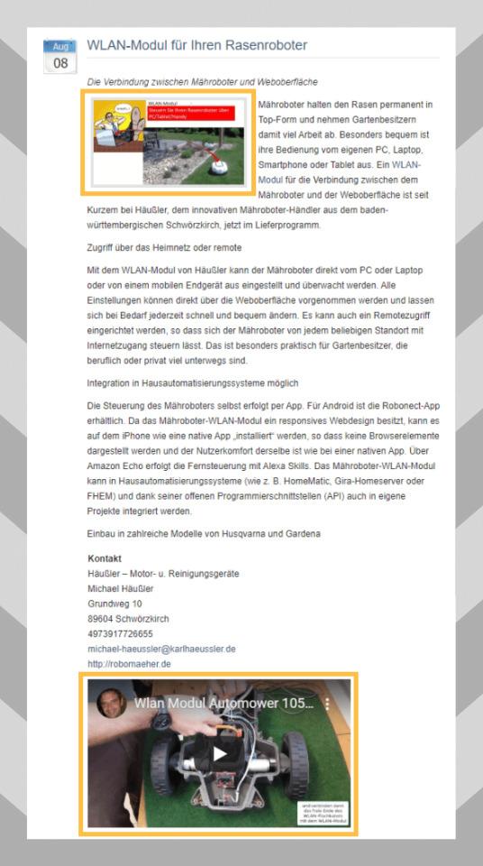 Visuelle PR: Bewerbung WLAN Modul über Bild und Video