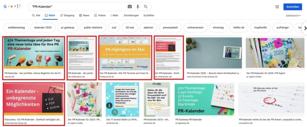 Visuelle PR: Pressebilder in der Google Bildersuche