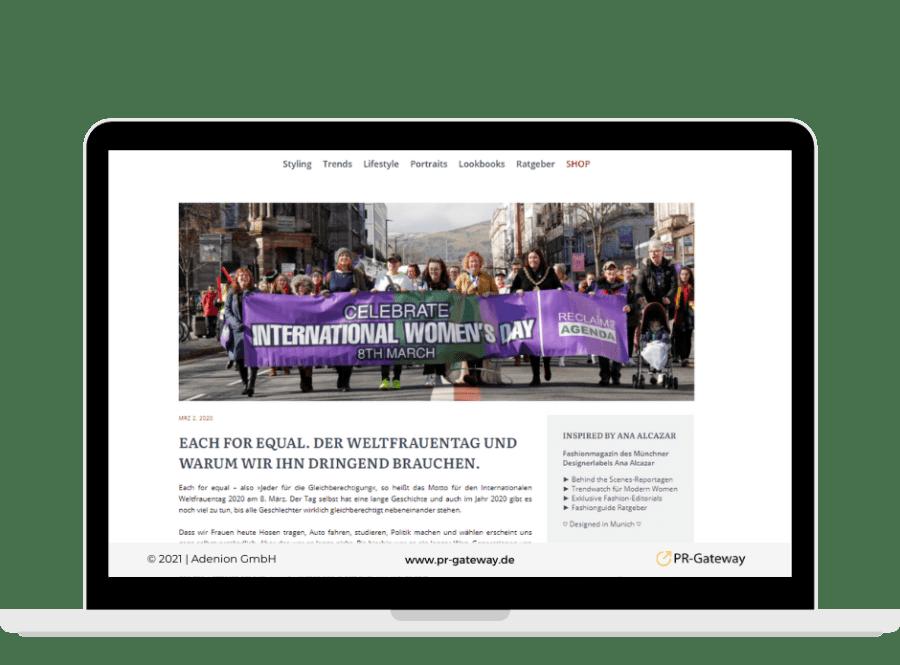 Pressemitteilung zum Weltfrauentag
