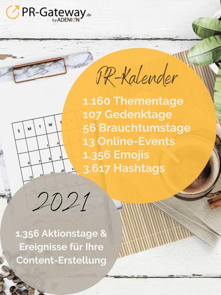 PR-Gateway PR-Kalender 2021