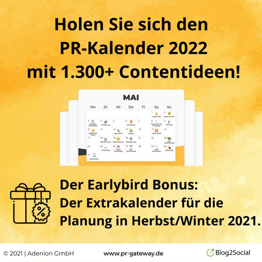 PR-Gateway PR-Kalender 2022