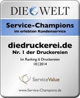 diedruckerei.de holt erneut den Titel bei Service-Champions 2014