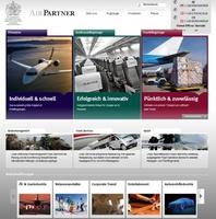 Unternehmenswebsite von Air Partner im neuen Gewand