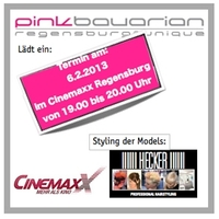 showimage Der nächste Kinobesuch in Regensburg wird PINK.   Cinemaxx und pinkbavarian regensburg unique laden ein  zur Ladies Night im Cinemaxx und bieten mehr als Kino. Styling by Friseur Hecker Regensburg