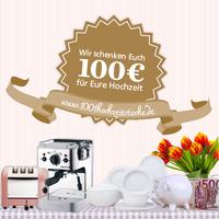 showimage 1001hochzeitstische schenkt Brautpaaren 100 Euro
