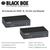 Neuer Extender zur Übertragung von HDMI-, Infrarot-, RS-232-Signalen und Ethernet über CATx-Netzwerkkabel bis zu 100 Meter