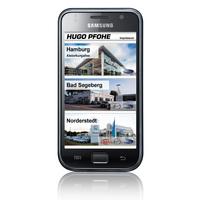 Mobile Webseite: Hugo Pfohe prasentiert sich auf Smartphone