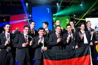 """showimage Ein goldenes """"Heimspiel"""": Weltmeistertitel für deutsche Fliesenleger und Trockenbauer bei den WorldSkills Leipzig 2013"""