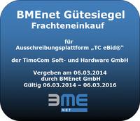 Geht in Verlängerung: BME-Gütesiegel für Ausschreibungsplattform von TimoCom