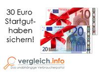 Kreditkarten-Aktion: 30 Euro Startguthaben sichern