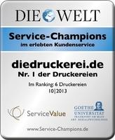 diedruckerei.de ist Service-Champion 2013