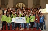 Ausgezeichnete Jungunternehmer beim Bundes-Schülerfirmen-Contest