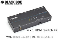 4K-HDMI-Switch von Black Box für UltraHD- und 3D-HDMI-Quellen