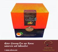 Roter Ginseng-Tee: laktosefrei und naturrein aus Korea