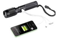 Abenteuer:  Taschenlampe speist im Notfall das Smartphone