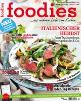 Ab 27.September am Kiosk:  foodies - aus wahrer Liebe zum Kochen