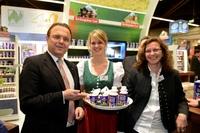 Biofach 2014: Bundeslandwirtschaftsminister Friedrich besucht Molkerei Berchtesgadener Land
