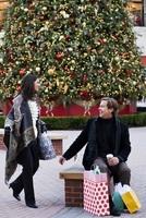 Virginia macht die Weihnachtsbeleuchtung an