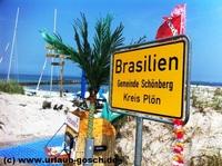 WM 2014 - Torjubel unter freiem Himmel in Brasilien an der Ostsee