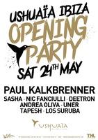 Ushuaïa Ibiza Beach Hotel verkündet Line-Up für die Opening Party 2014: Paul Kalkbrenner, Sasha und Nic Fanciulli treten als Headliner bei der Opening Party 2014 am Samstag, 24. Mai auf.